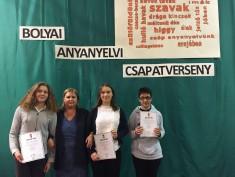 Bolyai anyanyelvi csapatverseny 2016